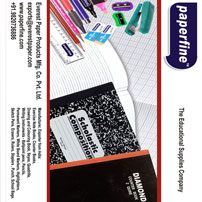 Manufacturer exporter of Paper Converted Stationery Products for the School & Office Segment.